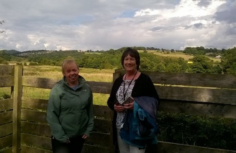 Pauline Latham OBE MP visits the Derbyshire Wildlife Trust