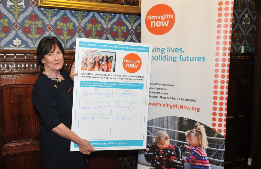 LOCAL MP CALLS FOR GREATER MENINGITIS VACCINE TAKE-UP
