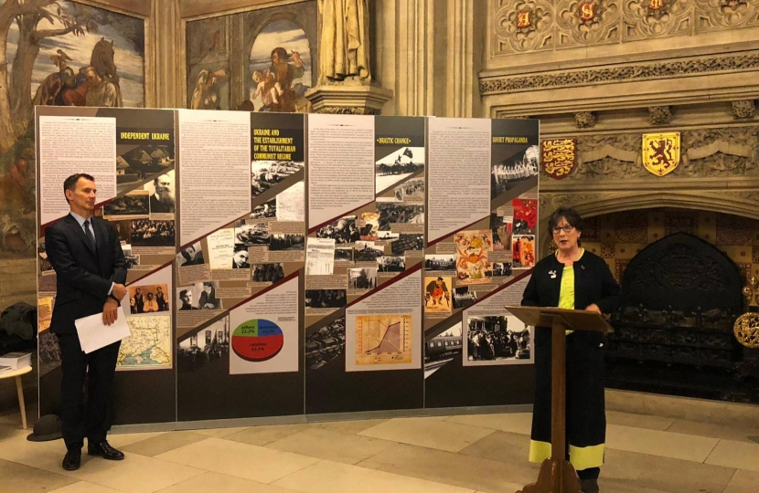 The opening of the Holodomor exhibition in Parliament