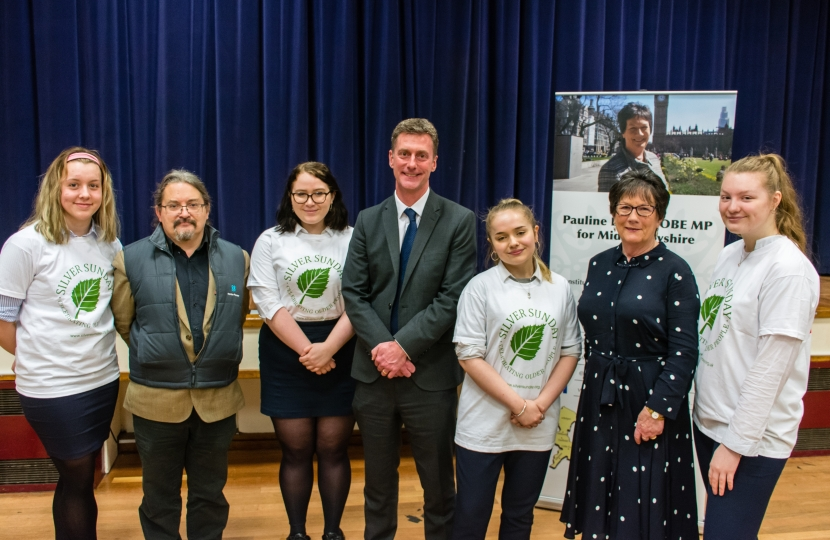 Pauline Latham OBE MP hosted a Loneliness event at Ecclesbourne School, Duffield on Friday 25th January 2019.