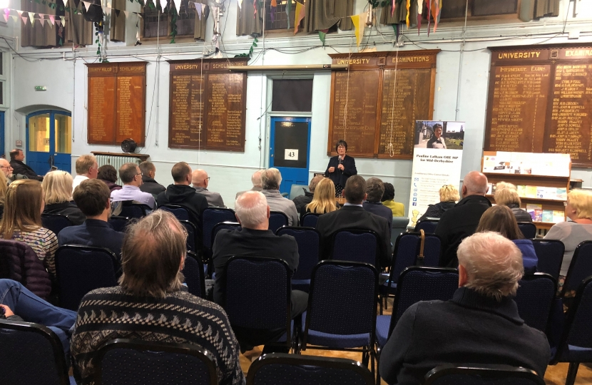 Pauline Latham OBE MP Hosts a 'Meet your MP' event in Belper