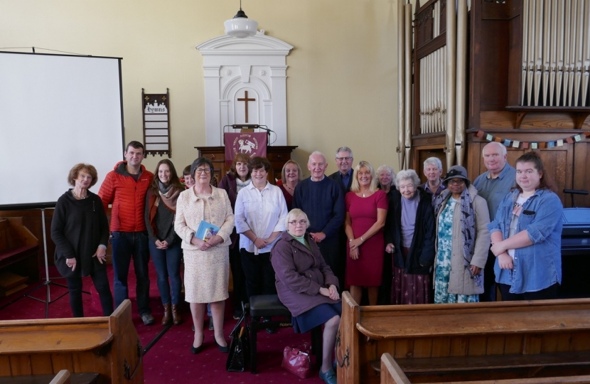 Pauline Latham OBE MP recently attended a special service at the Moravian church in Ockbrook