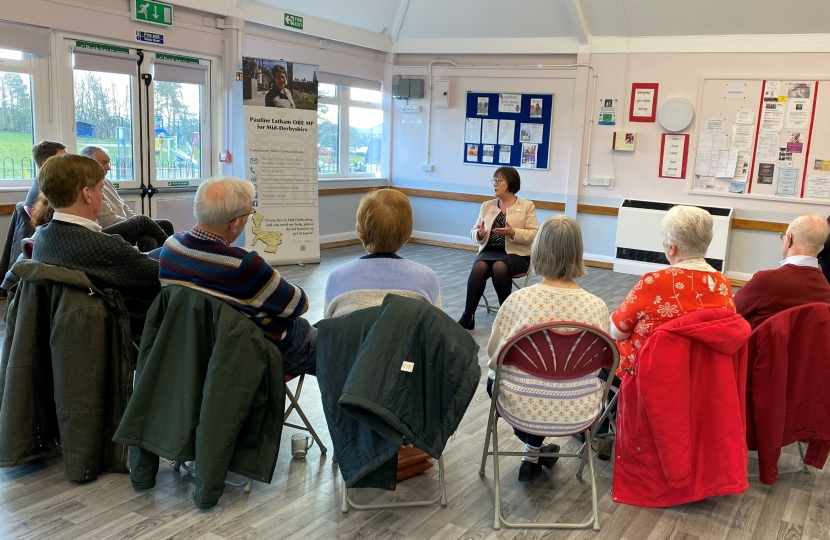 Pauline Latham OBE MP Hosts a 'Meet Your MP' Session in Oakwood